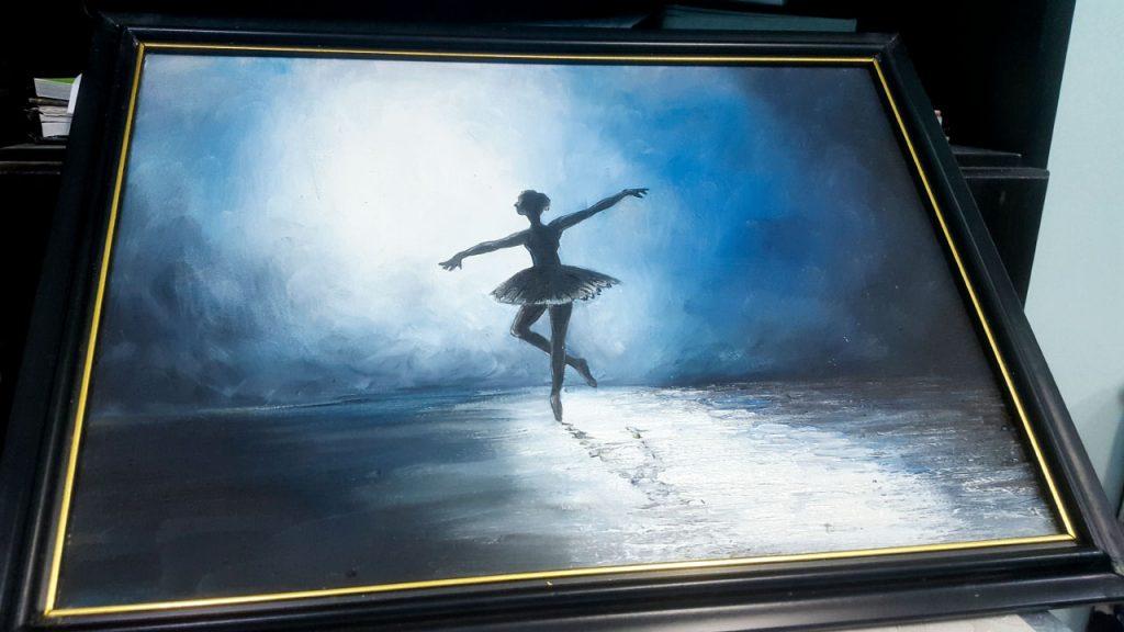 اللوحة التي اقتنيتها من هناك - راقصة الباليه